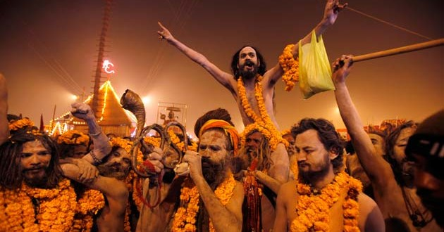 Naga Sadhus Celebration